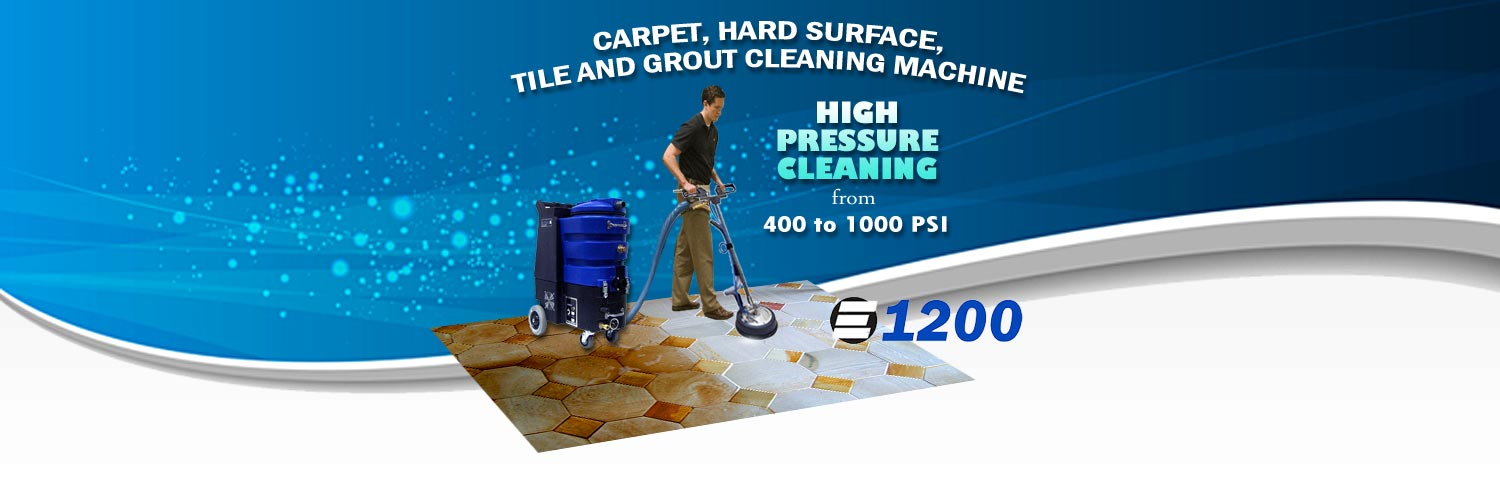 High Pressure Tile and Grout Cleaning Machine